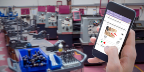 Create an instruction on the production floor using a mobile device