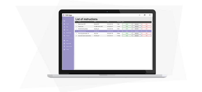 Find and manage instructions in a simple manner